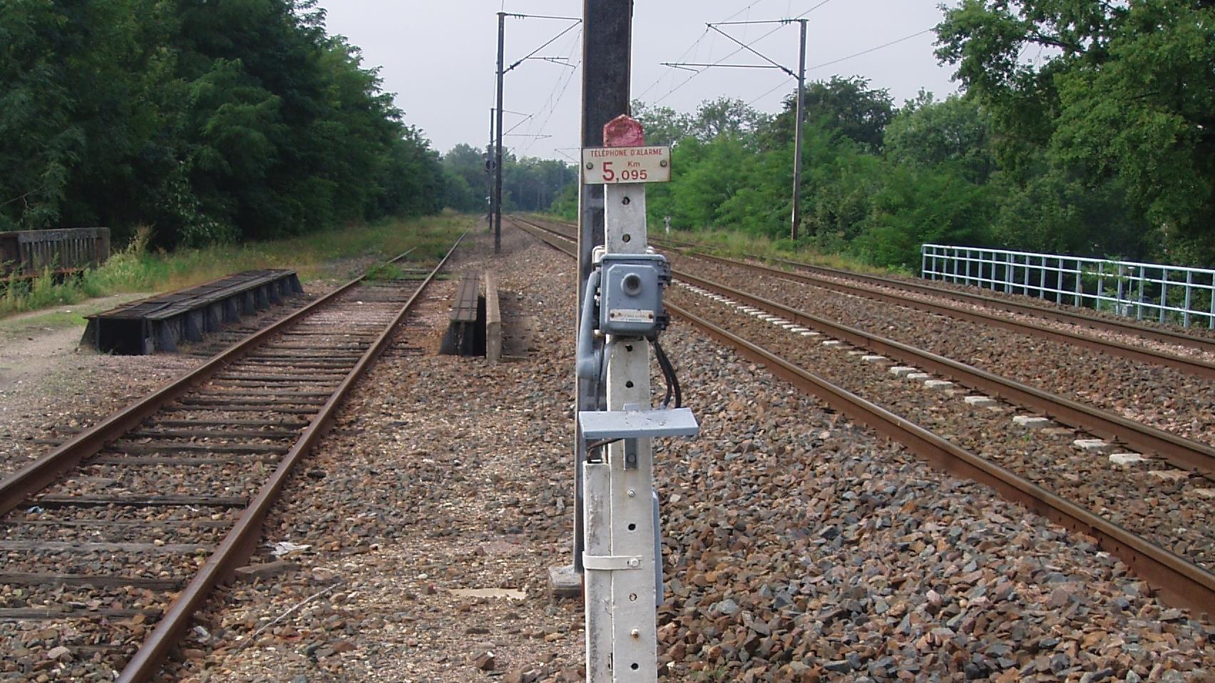 Téléphone de voie SNCF